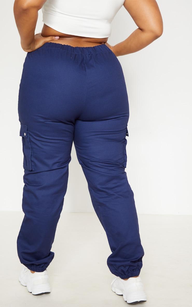 Plus Navy Cargo Pants   2