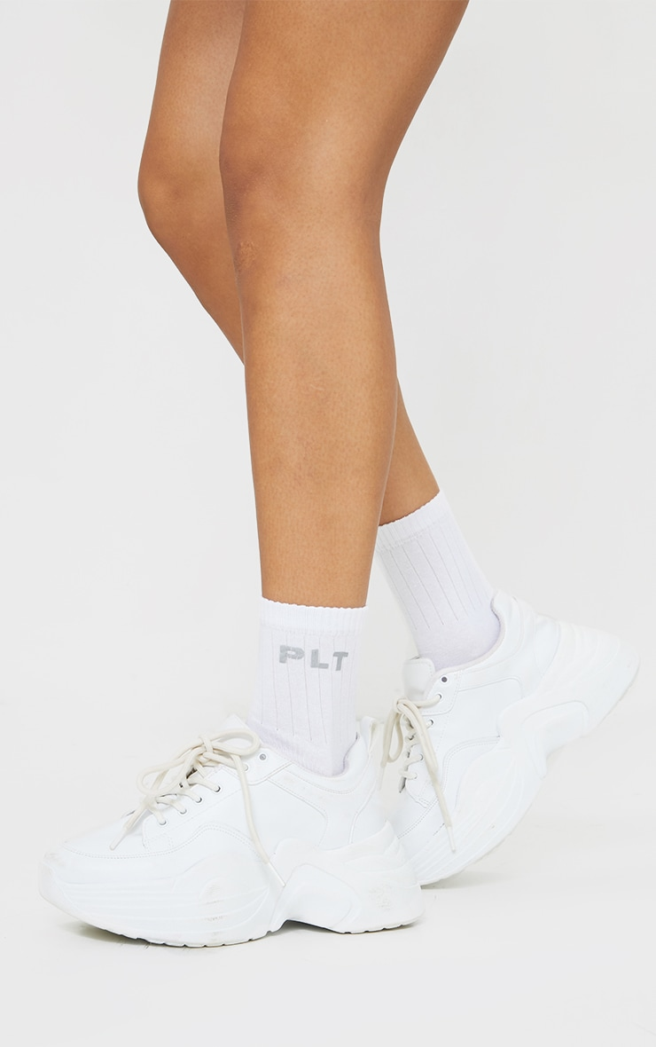 PRETTYLITTLETHING White Reflective Socks 2