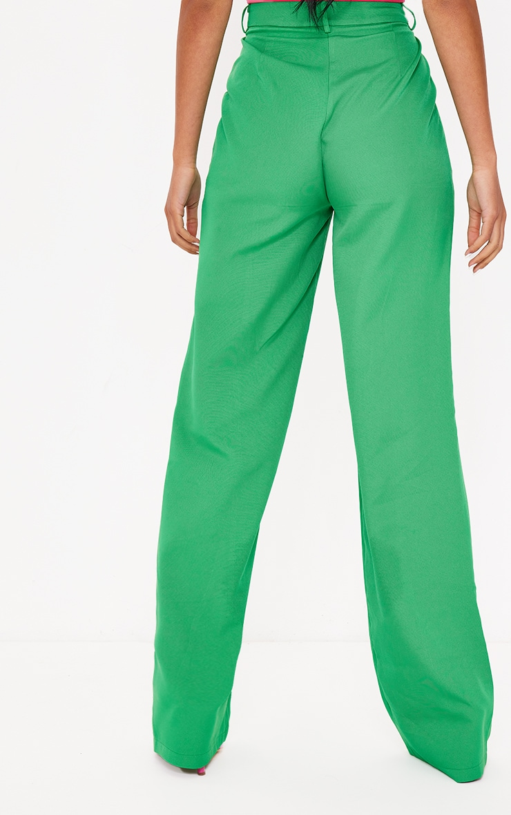 Tall Green Highwasited Suit Pants 3