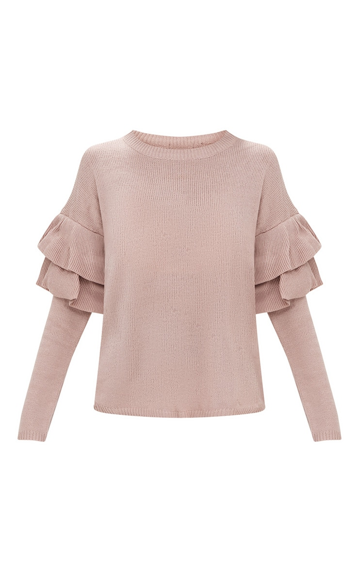 Blush Double Frill Sleeve Jumper 3