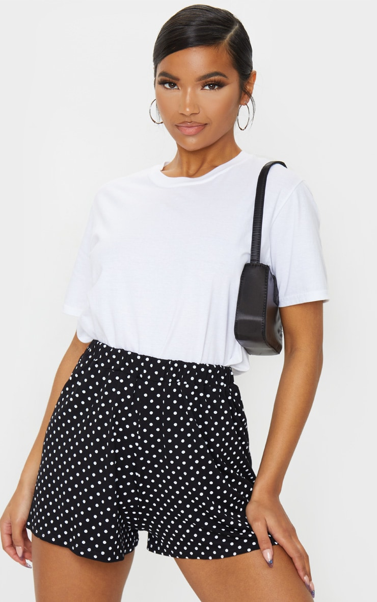 Black Jersey Floaty Polka Dot Short 1