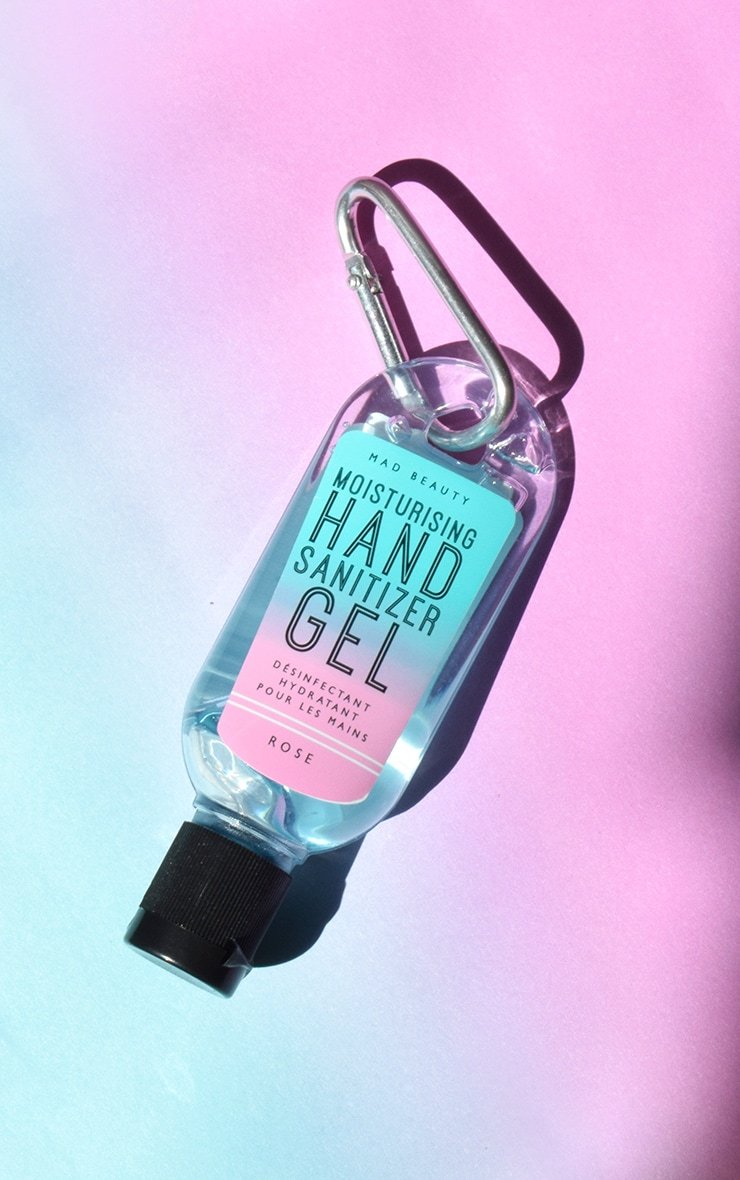 Clip & Clean Gel Sanitizer Neon Rose 1
