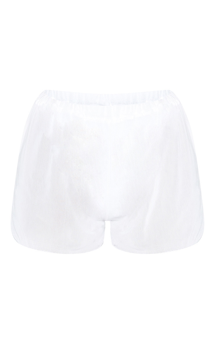 White Mesh Beach Short 3