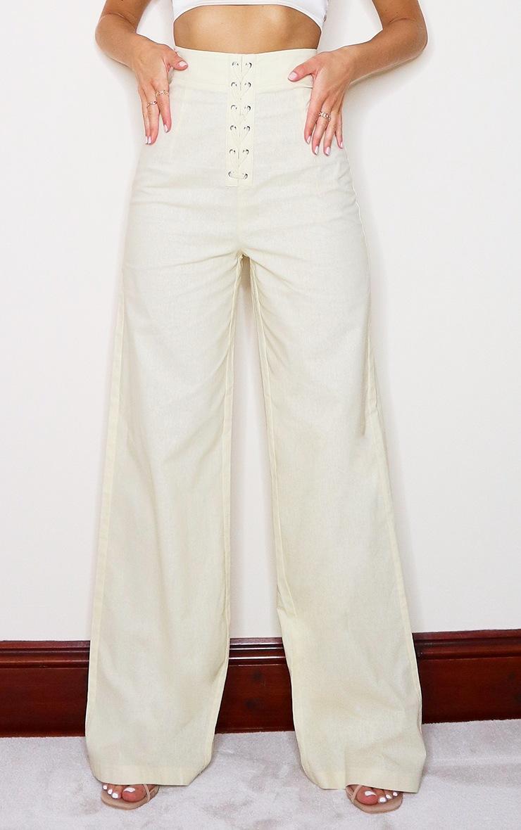 Stone Woven Extreme Wide Leg High Waist Pants 2