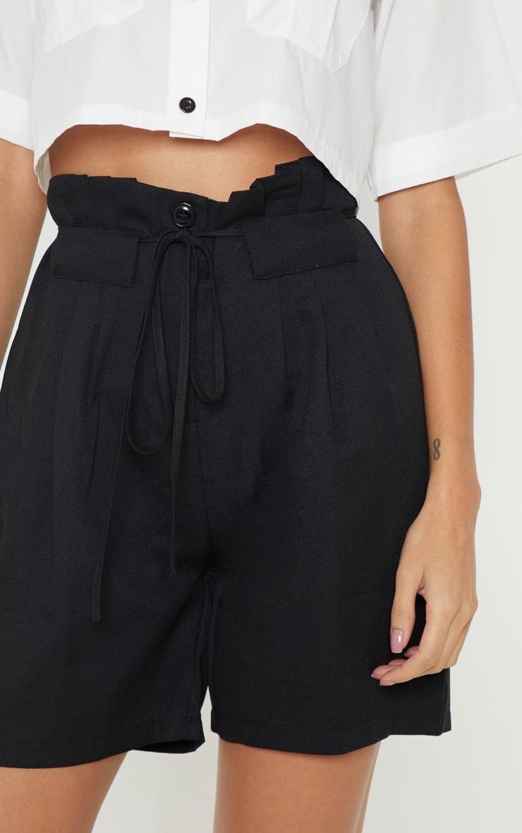 Black Tie Waist Shorts 6