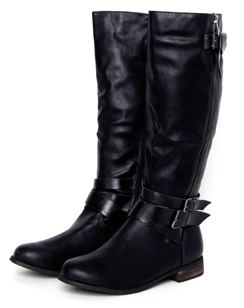 Jasmin Black Knee Length Boots 3