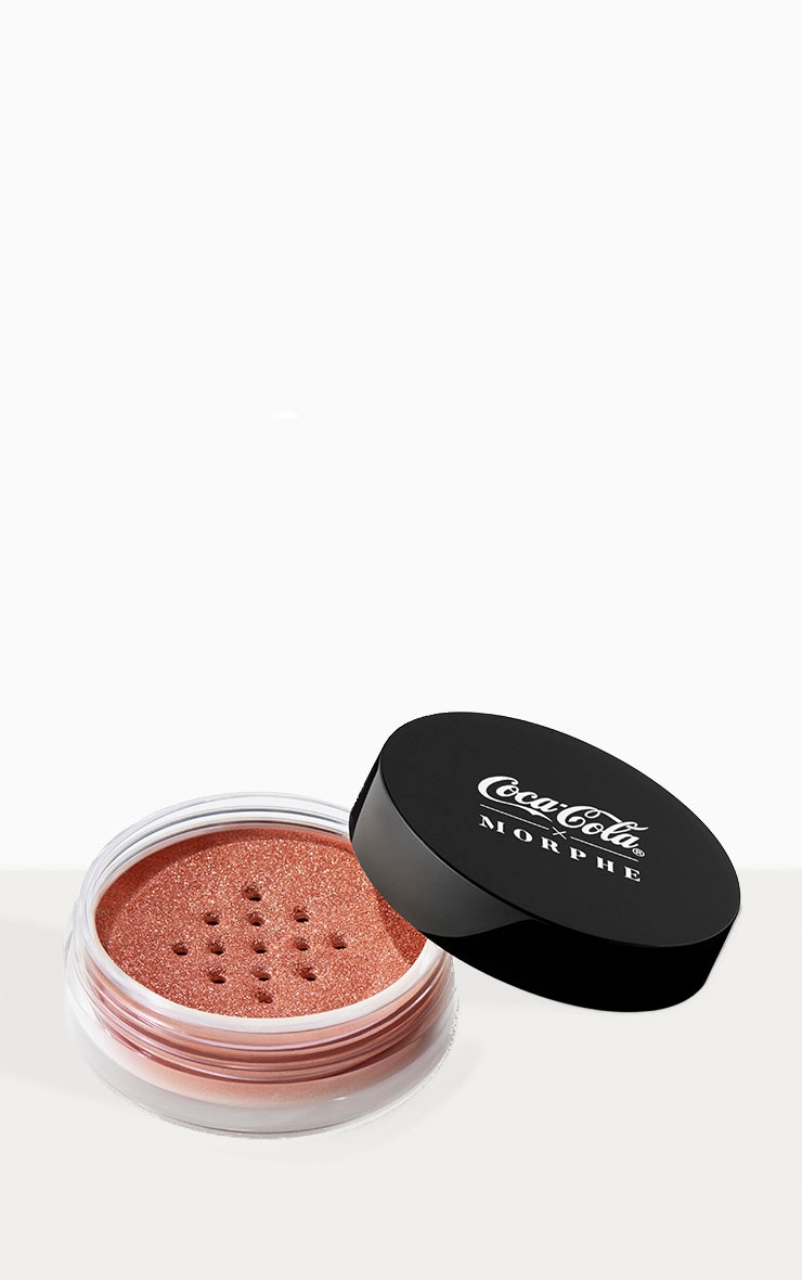 Coca-Cola X Morphe Glowing Places Loose Highlighter Serve Sparkling 2