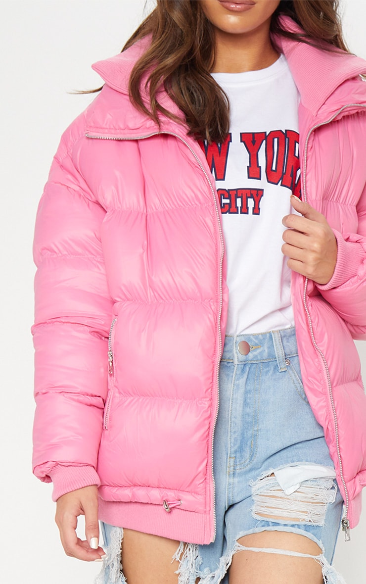 Pink Oversized Puffer 4