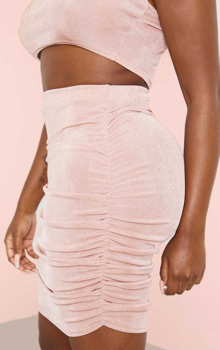 Rose Strappy Crop and Ruched Midi Skirt Set 5