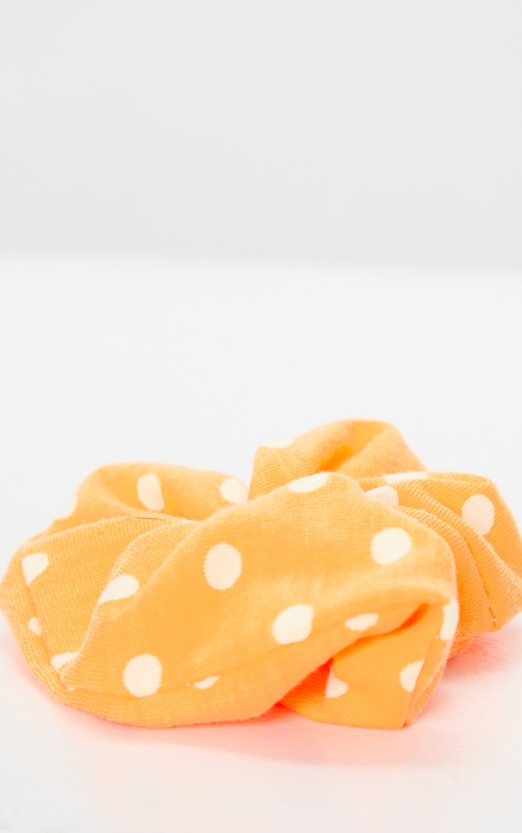 Orange Polka Dot Scrunchie 3