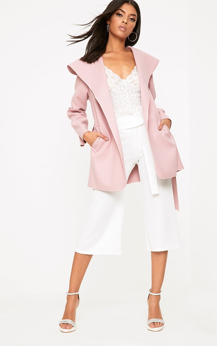 Pink Waterfall Belted Coat 4