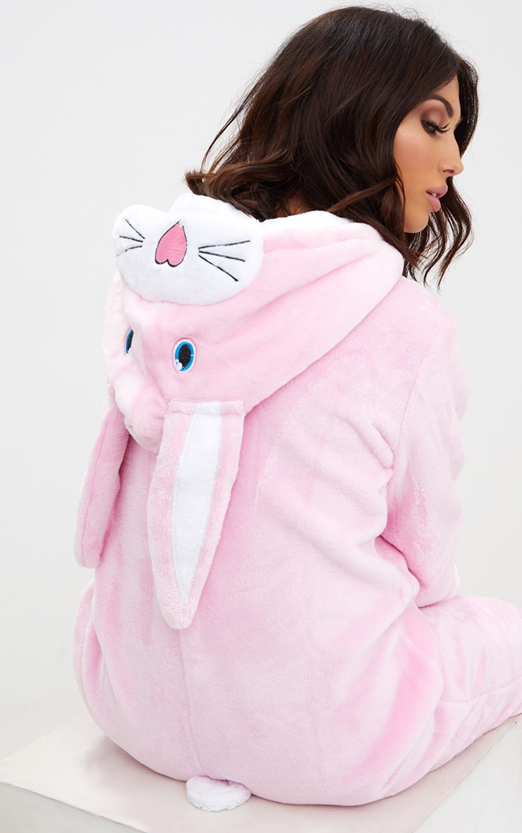 Pink Rabbit Onesie 2