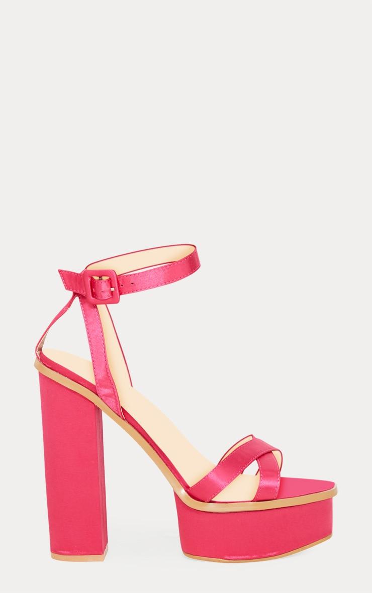 Fuchsia High Platform Sandal 3