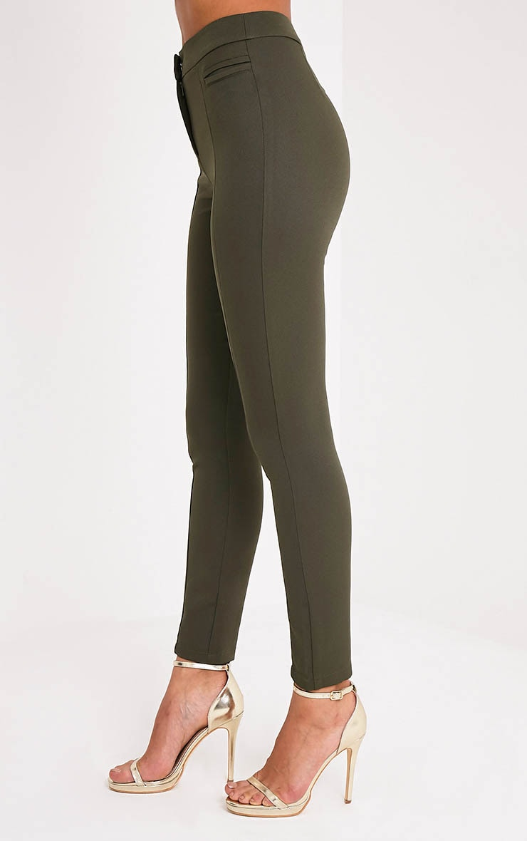 Avani pantalon de tailleur kaki 4