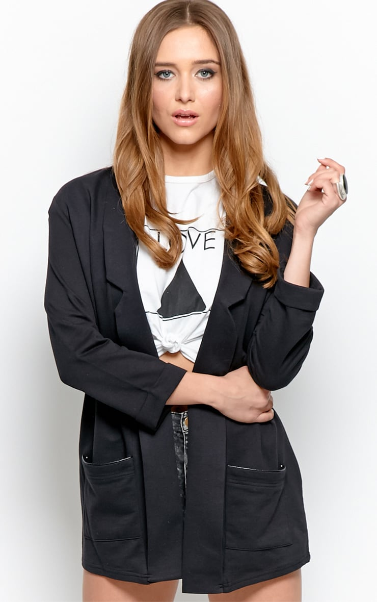 Lyla Black Long Line Blazer 1