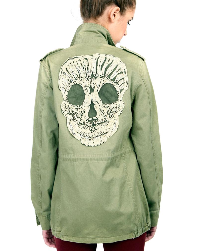 Clara Skull Back Jacket 1