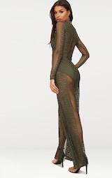 098a5354874 Khaki Lace High Neck Bra Insert Jumpsuit image 2