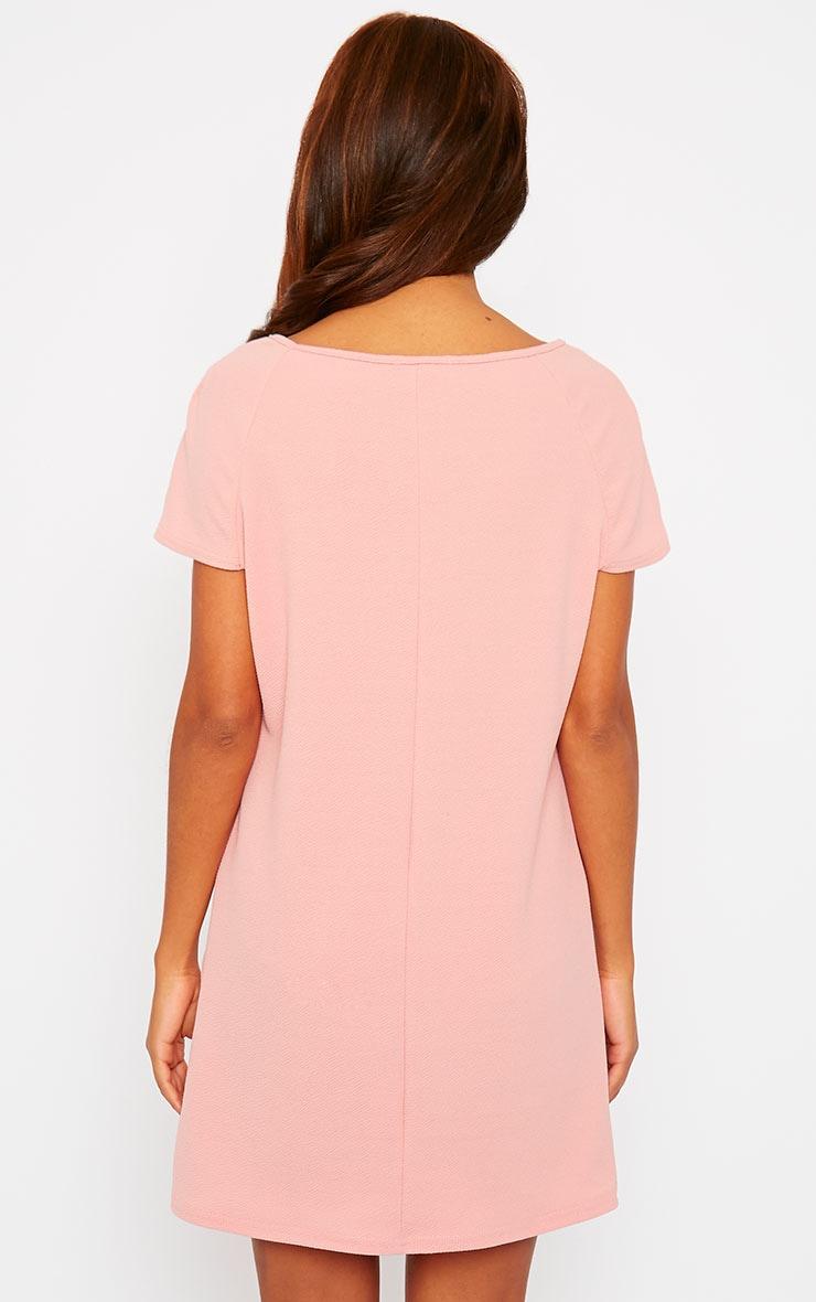 Camila Pink Loose Fit Shift Dress 2
