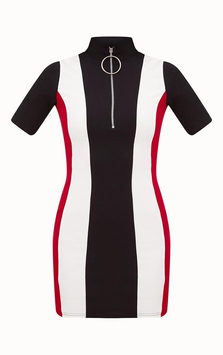 Black Motor Cross Ring Pull Dress 3