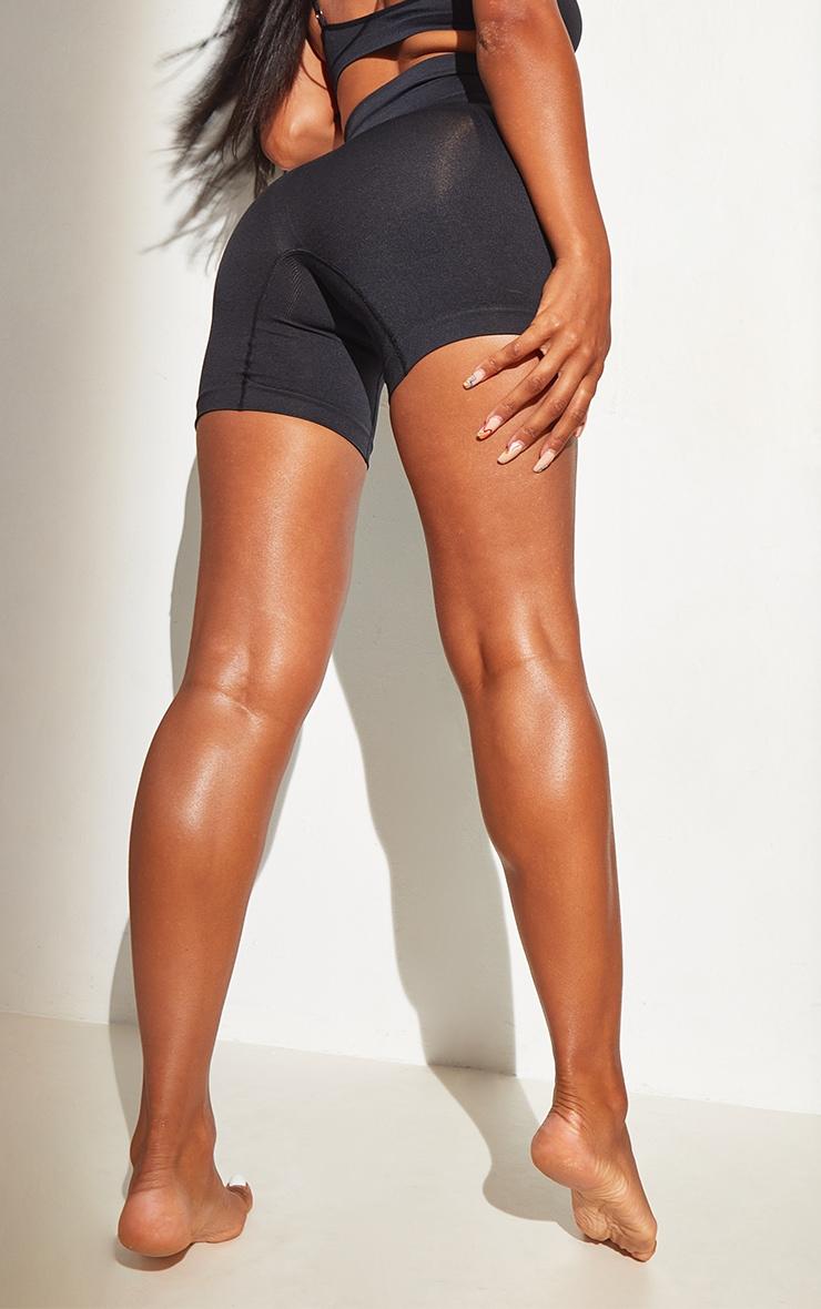 Black Shapewear High Waist Control Shorts 2