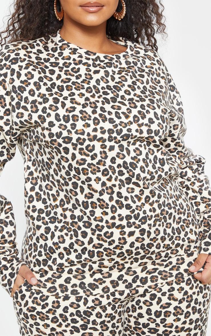 Plus Sand Cheetah Sweater 6