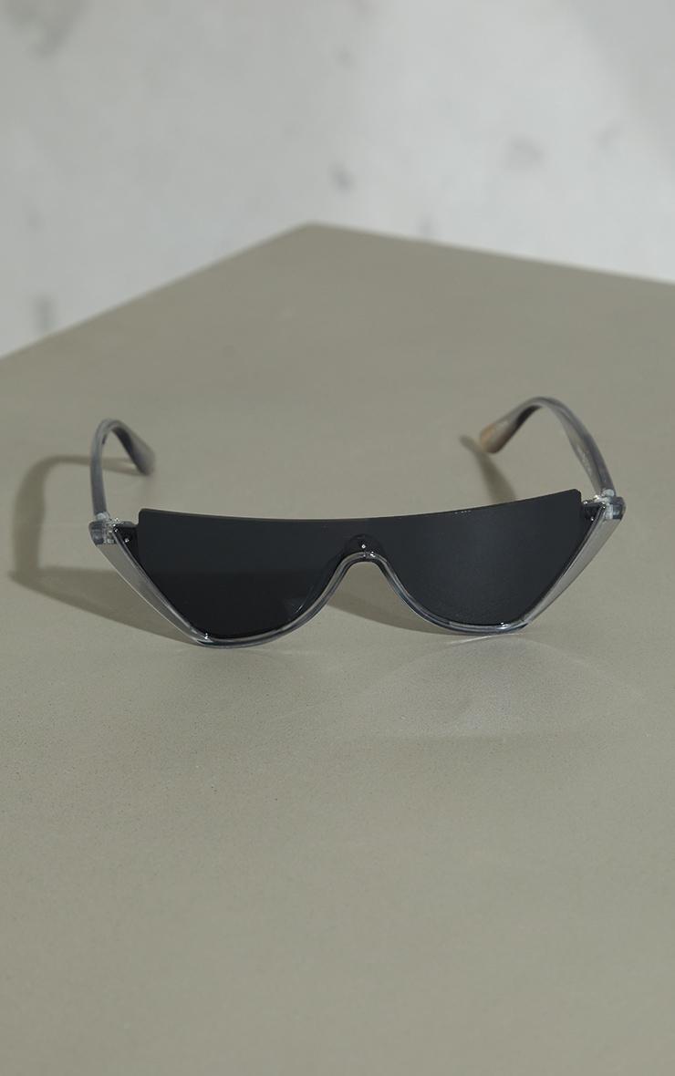 Grey Crystal Cut Out Cateye Sunglasses 2
