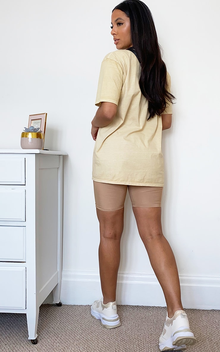Beige Washed T Shirt 2