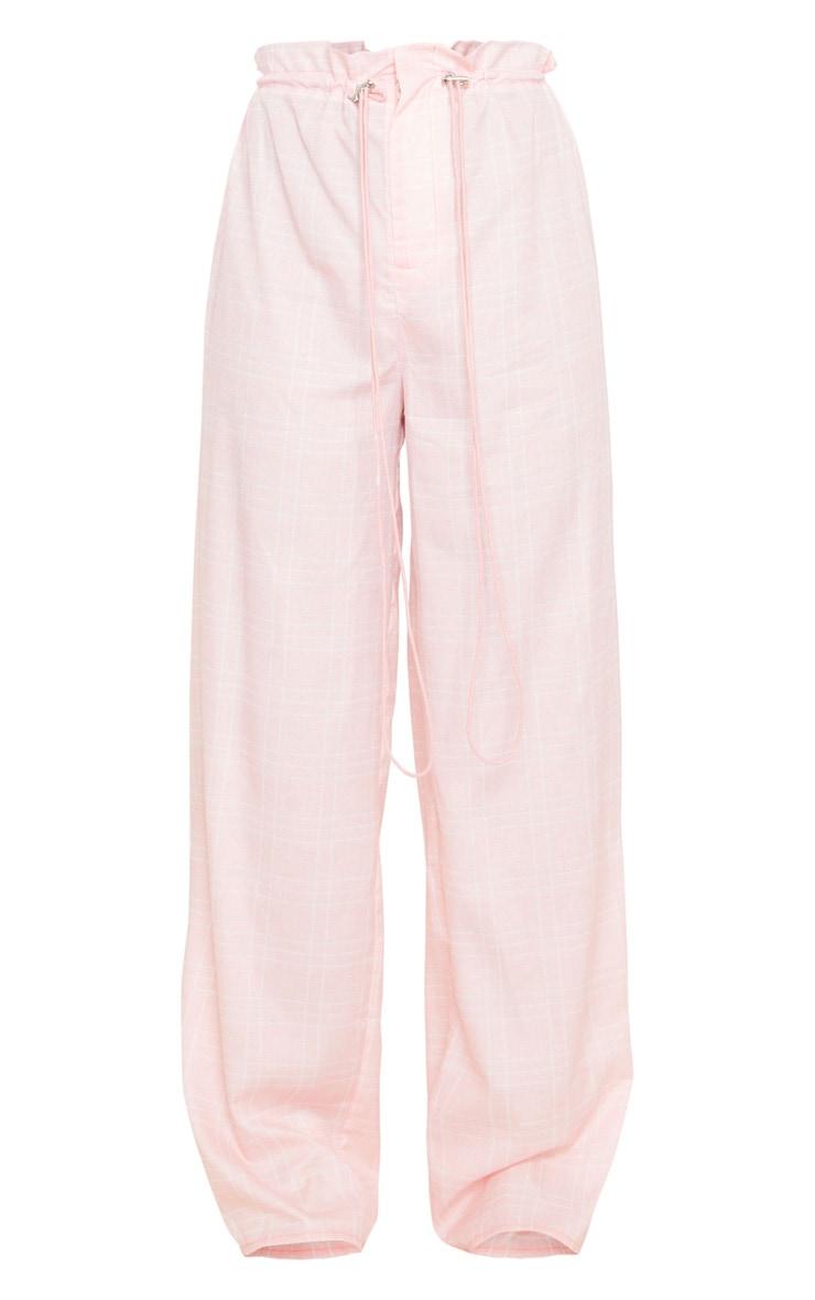 Dusty Pink Drawstring Waist Wide Leg Pants 5