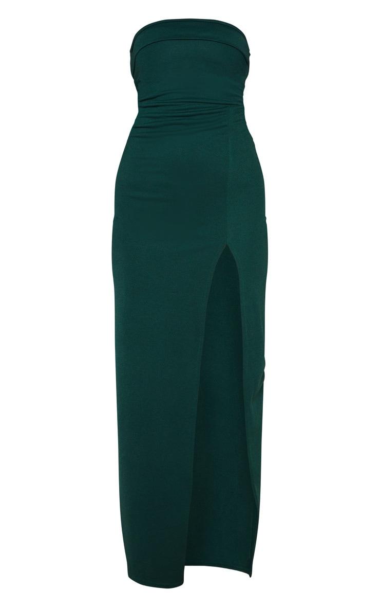 Emerald Green Bandeau Tie Back Maxi Dress 3