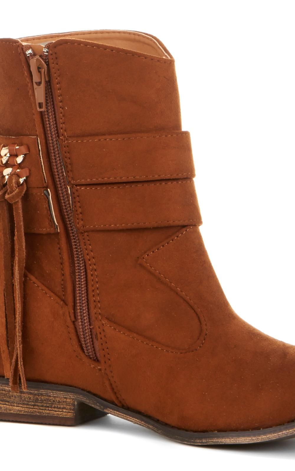 Trixie Tan Tassel Boots  3