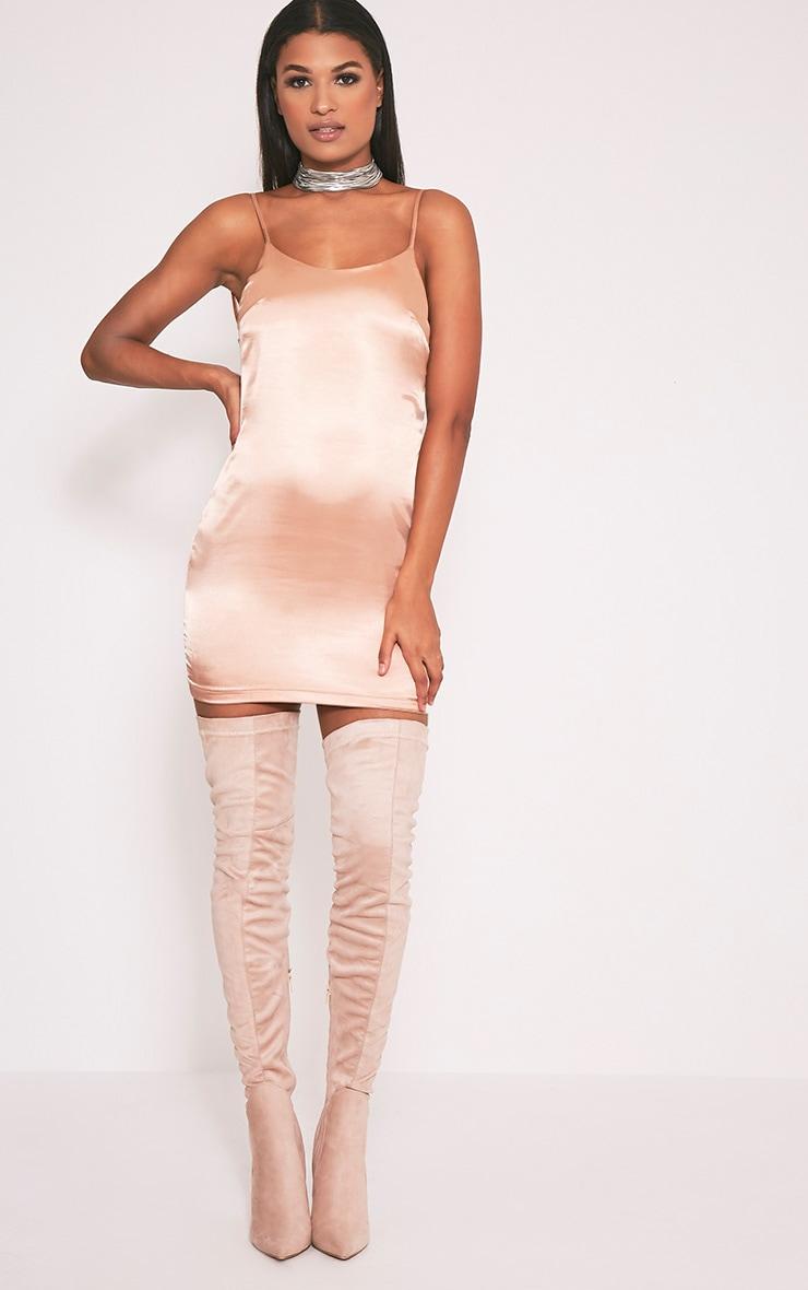 Sarna robe nuisette en soie à cordon dans le dos chair 5