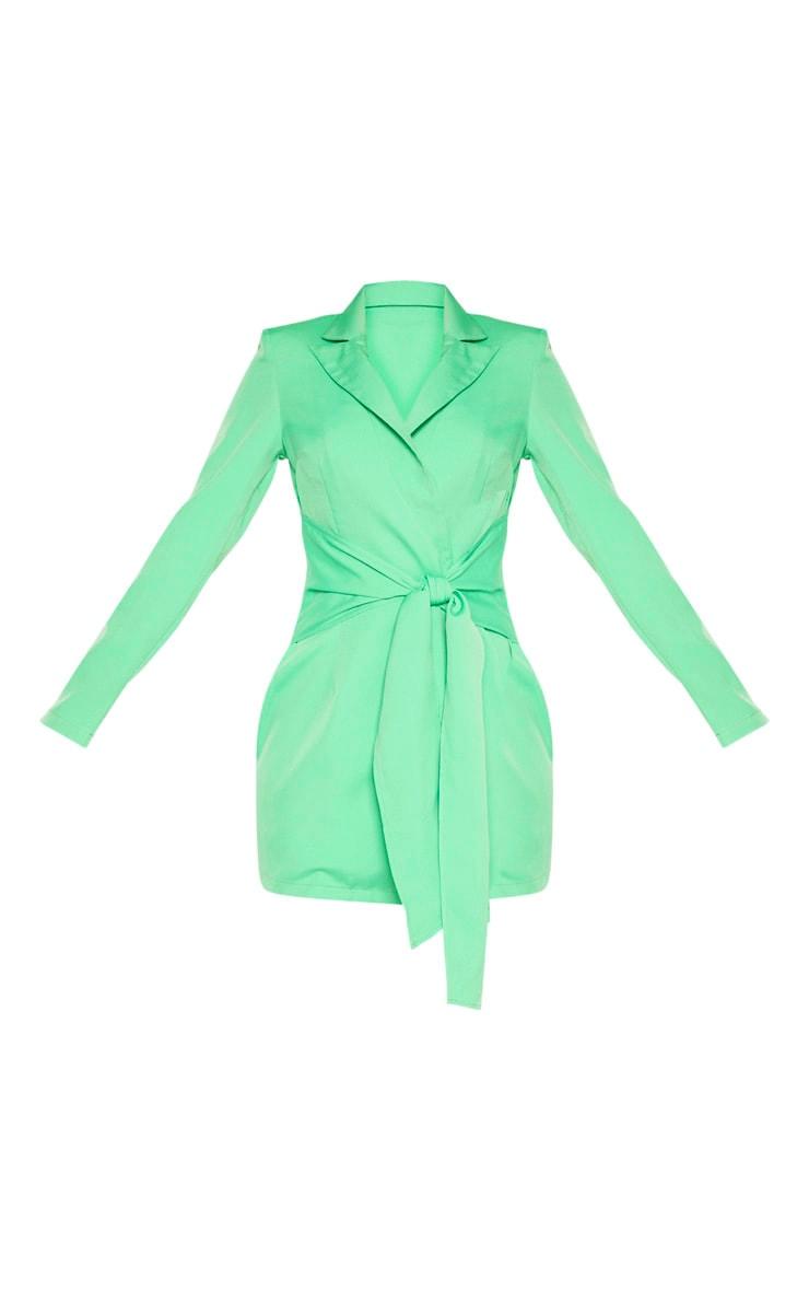 Green Wrap Detail Blazer Dress 3