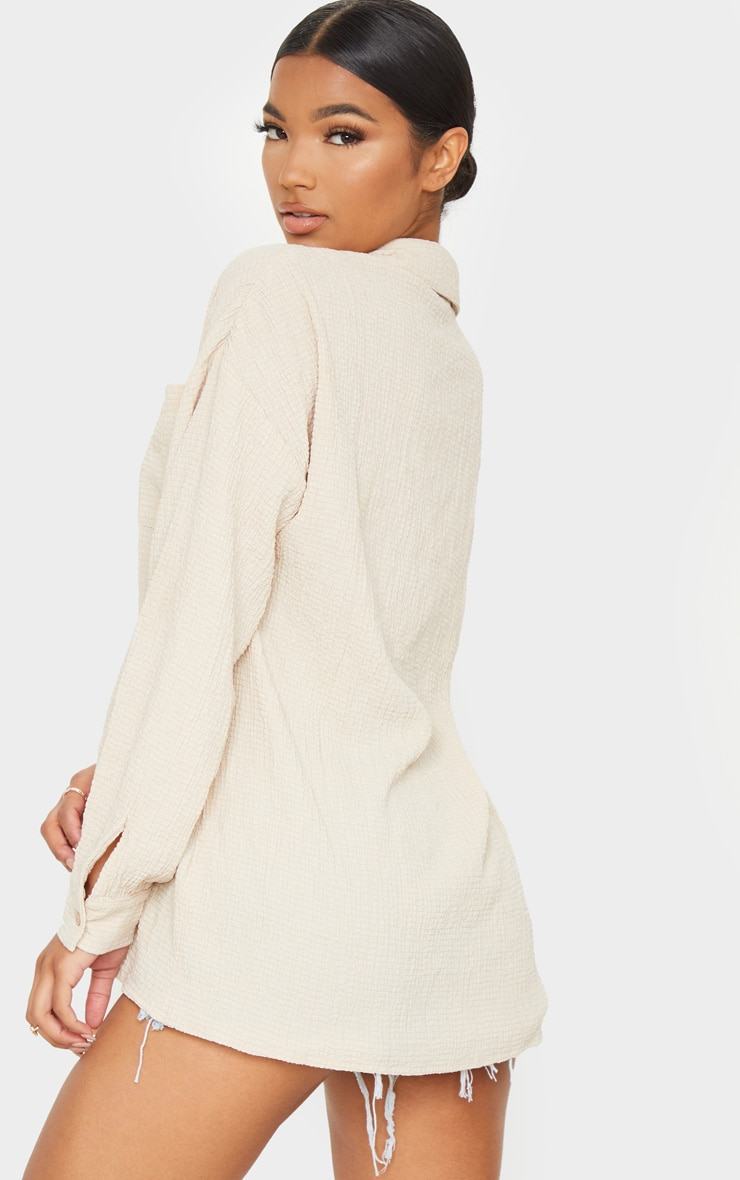 Stone Pocket Front Oversized Shirt 2