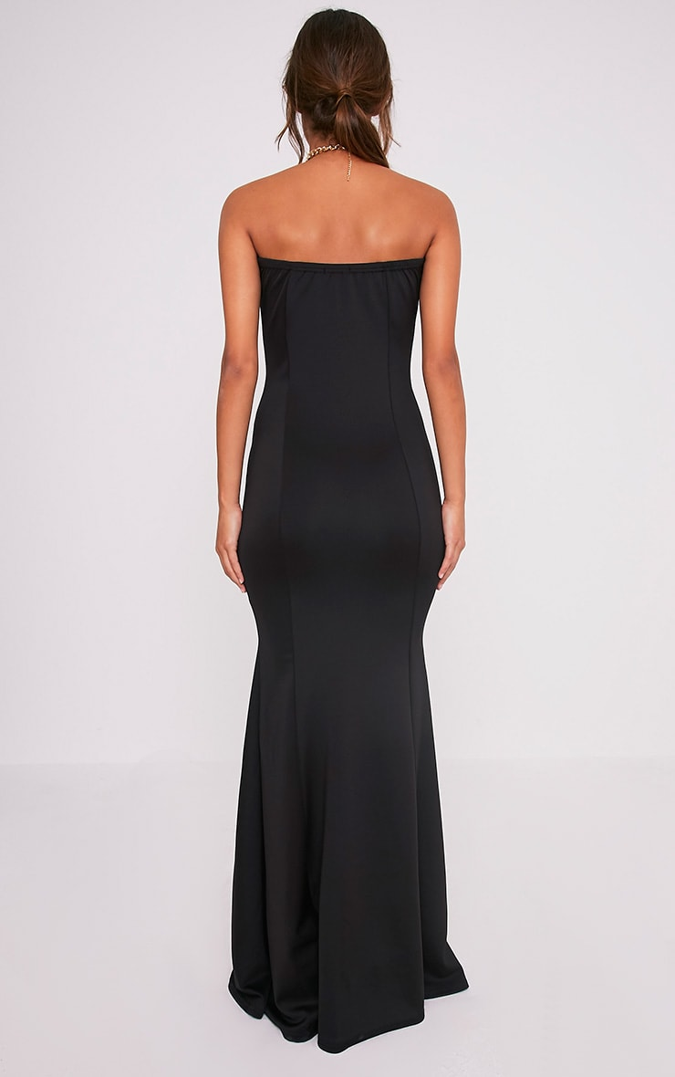 Wendie Black Sweetheart Fishtail Maxi Dress 2