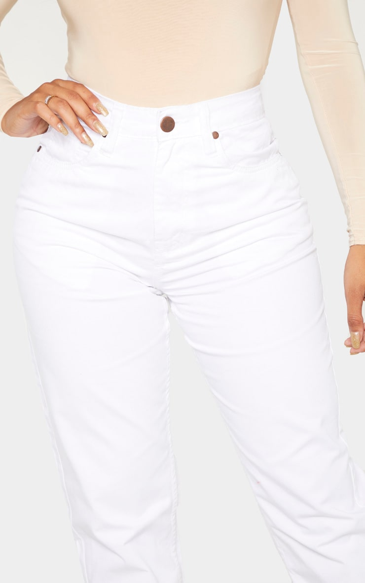 Shape White Mom Jeans 5