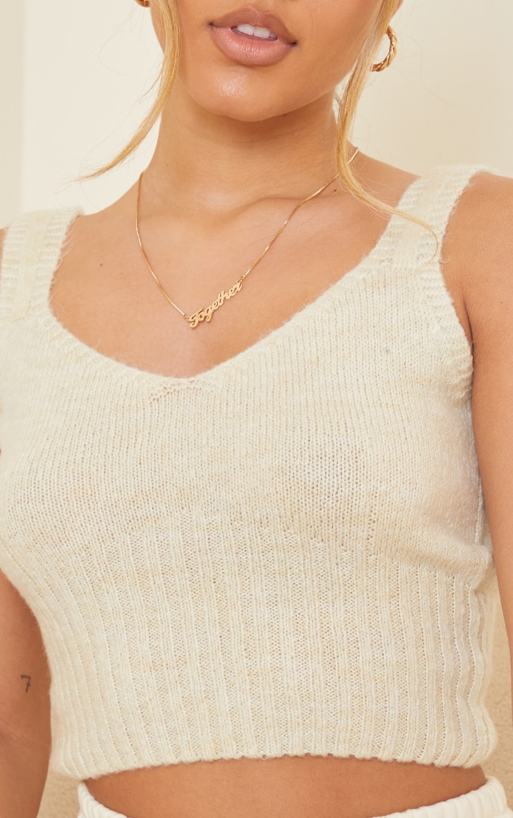 Cream Cosy Knitted Bralet 4