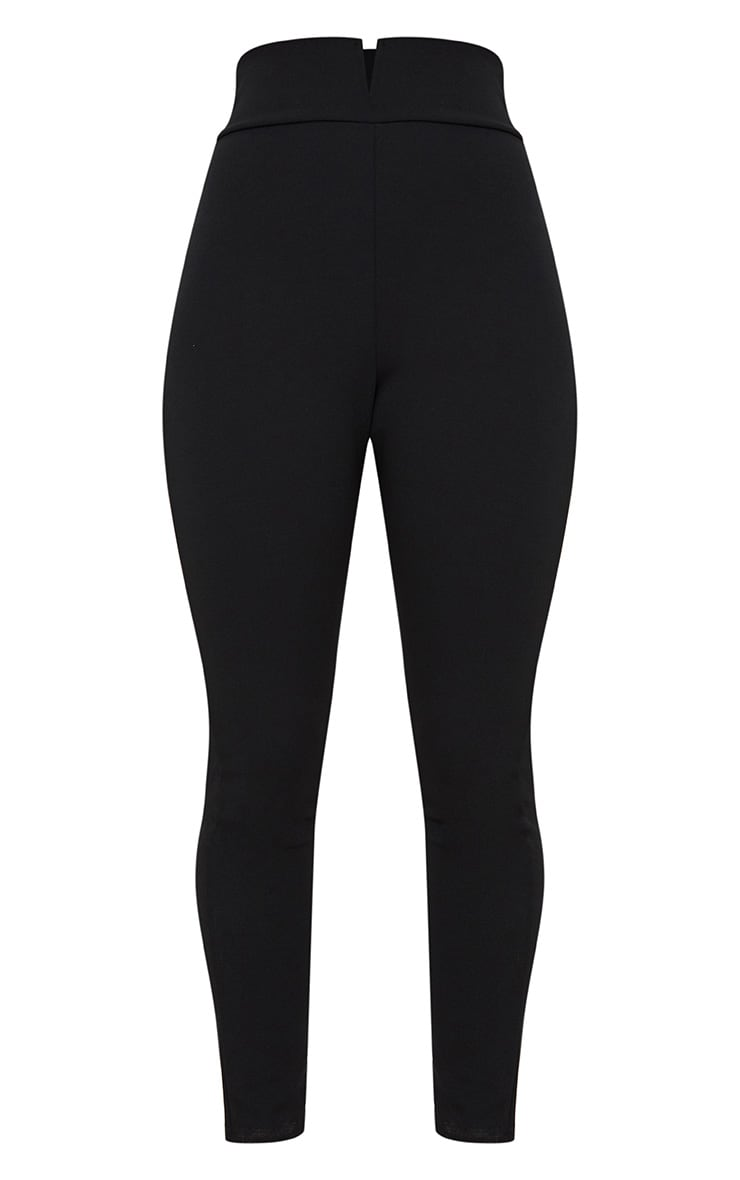 Black Cut Out Waist Skinny Trousers 3