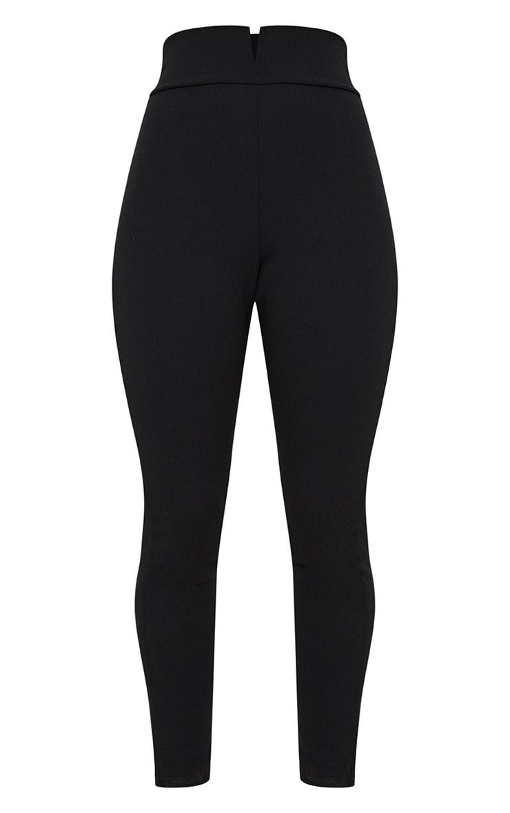 Black Cut Out Waist Skinny Pants 3