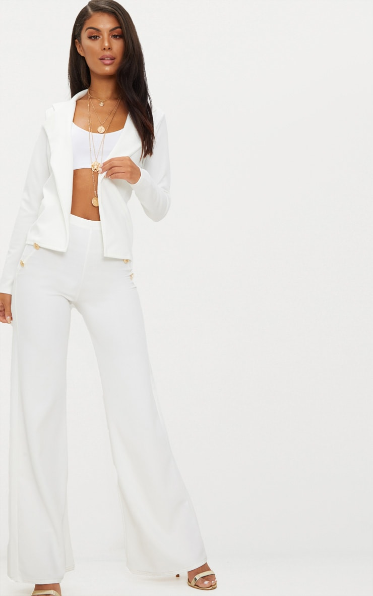 Cream Crop Blazer 4