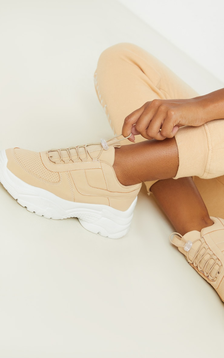 Sand High Arch Chunky Sole Trainer 1