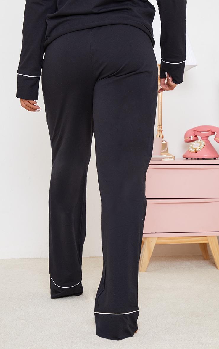 Maternity Black Wide Leg PJ Trousers 3
