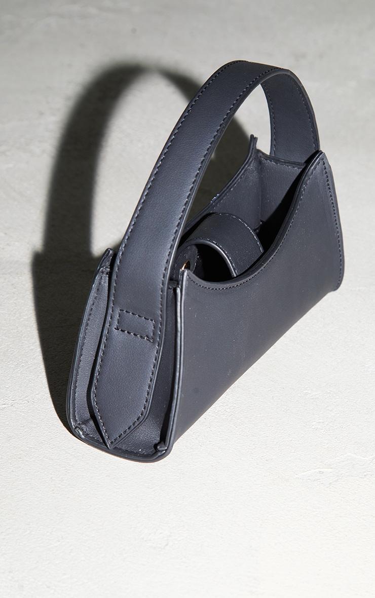 Black PU Curved Mini Bag 3