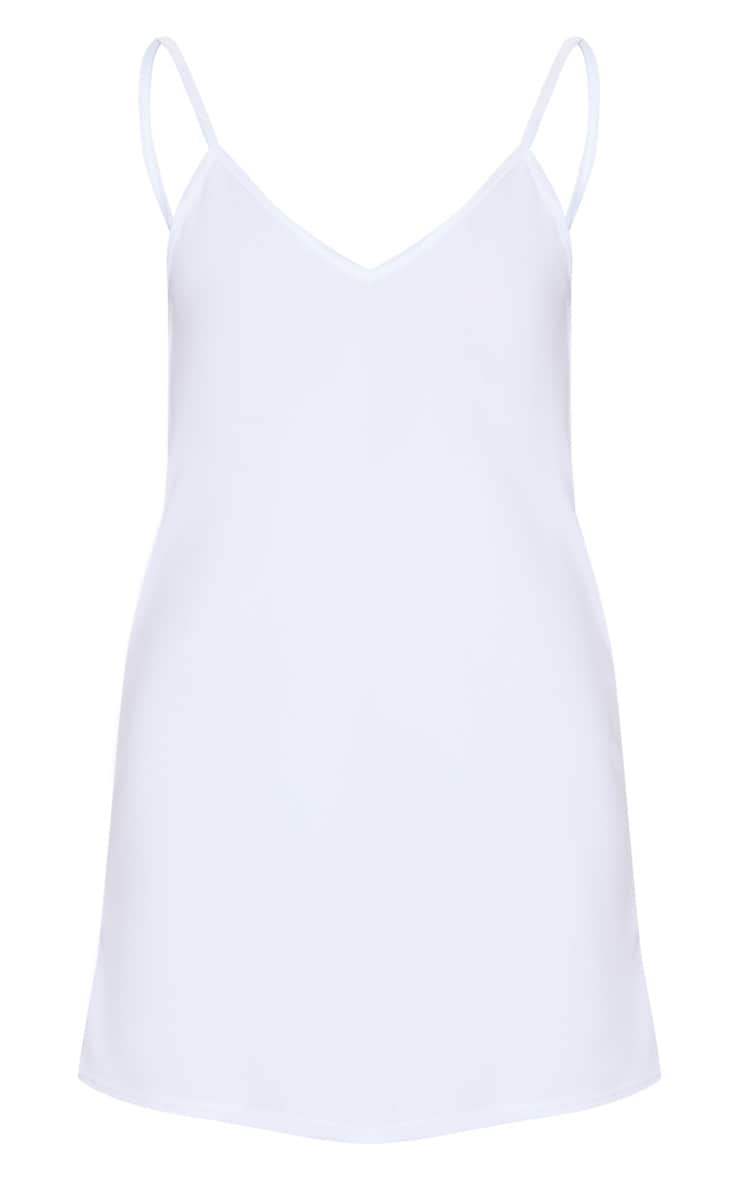 White Strappy Detail Backless Cami Dress 5