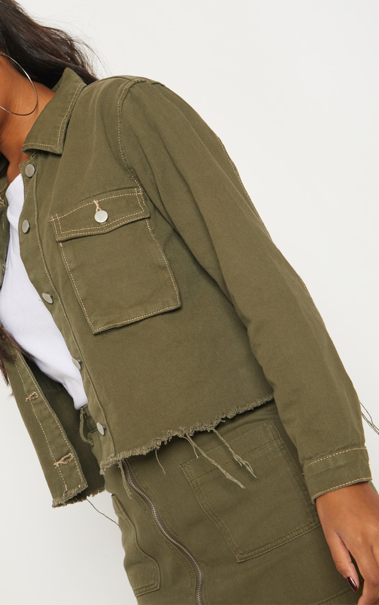 Khaki Trucker Jacket  5