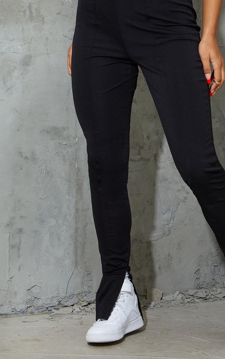 Black Stretch Detail Skinny Trousers 4