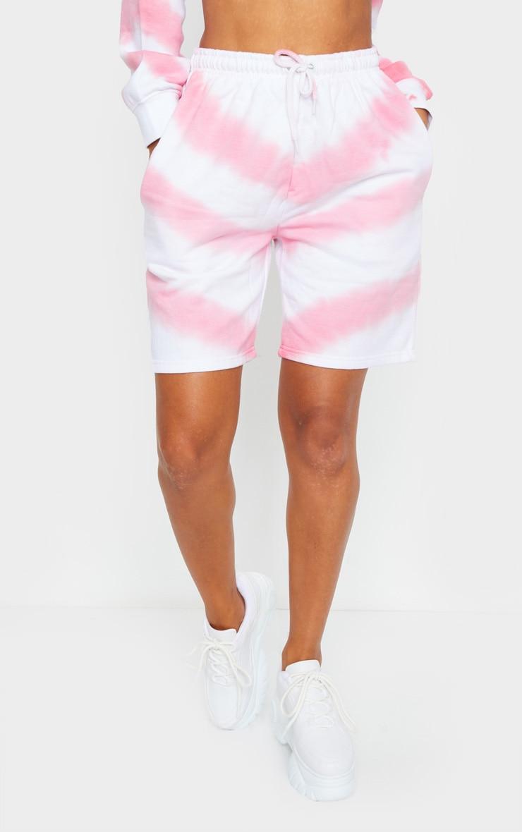 Pink Tie Dye Sweat Shorts 2