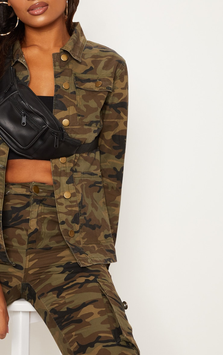 Camo Trucker Denim Jacket 5