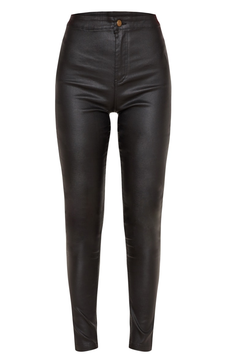 Black Coated Denim Skinny Jean 3
