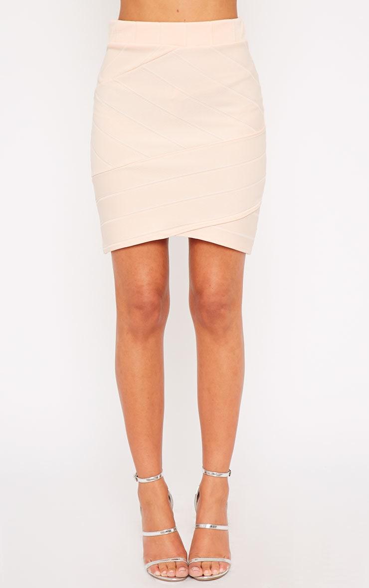 Kirsten Nude Bandage Mini Skirt 4
