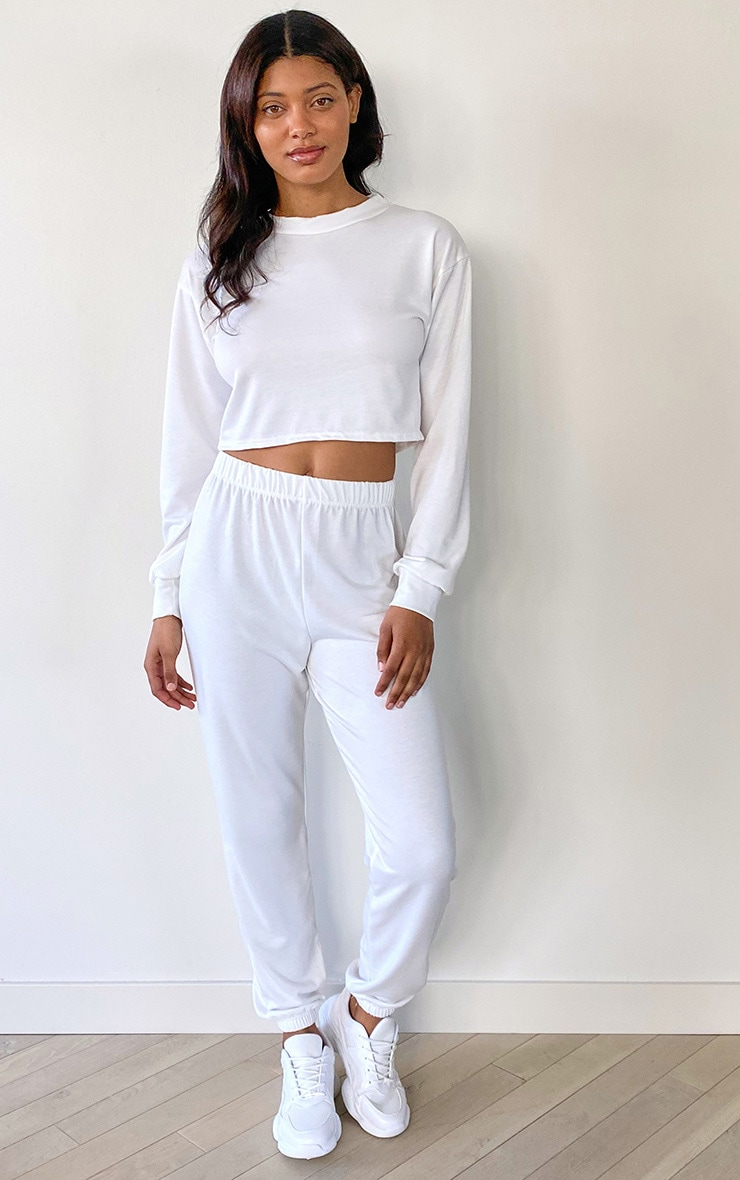 Tall White Brushed Oversized Sweater 3